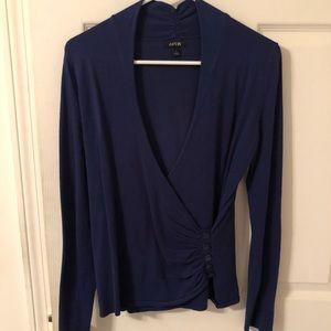 Cross body sweater